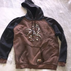 Legendary Whitetail Black And Brown Hoodie